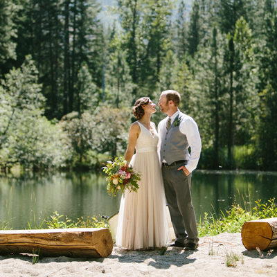 Leavenworth Wedding Photographer mountains and forest