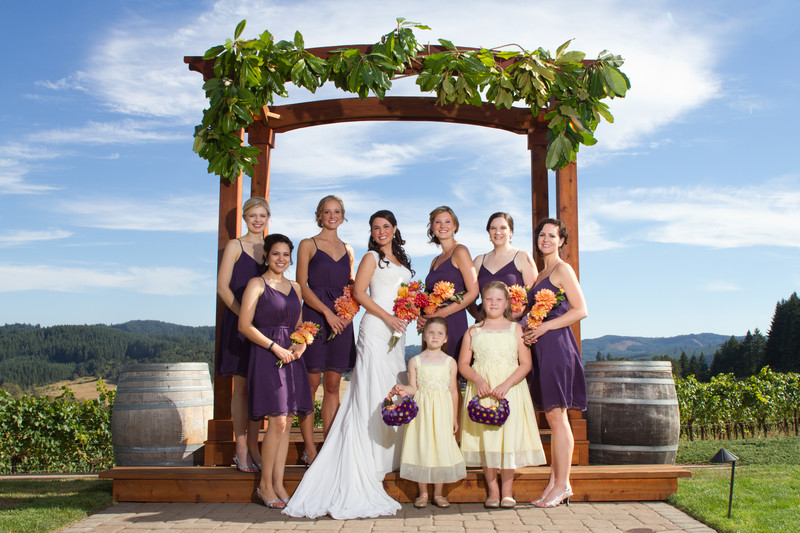 Sweet Cheeks Winery Wedding Bridal Party