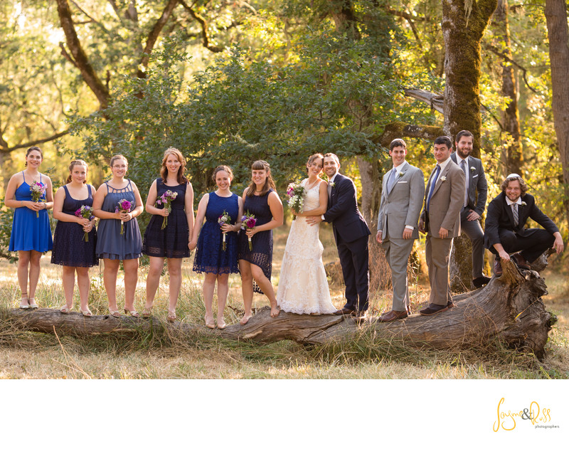 Wedding Party Photo at Mt. Pisgah