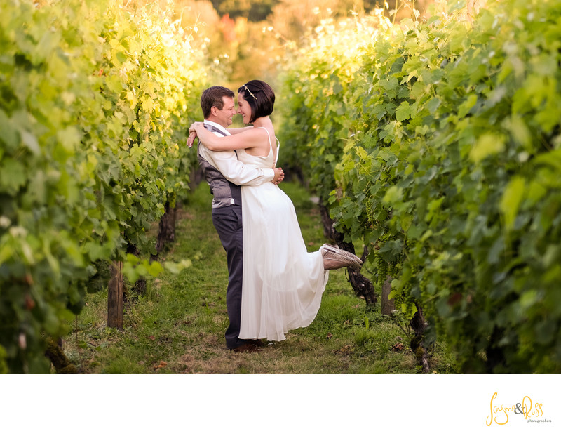 McMenamins Edgefield Vineyard Wedding Photo Bride & Groom