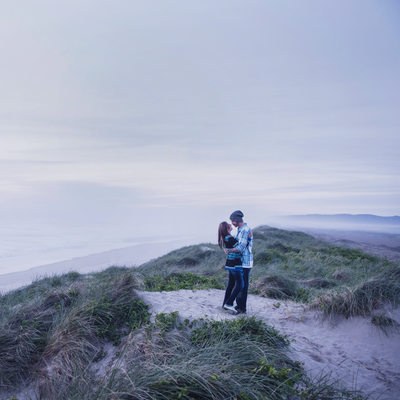 Creative Engagement Session South Jetty Florence Oregon