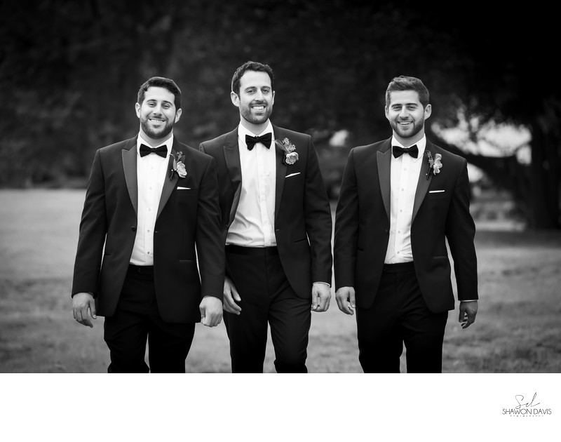 Groomsmen at Endicott Estate