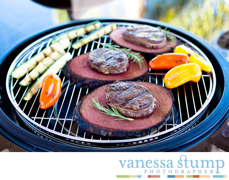 Plank Grilled Steaks
