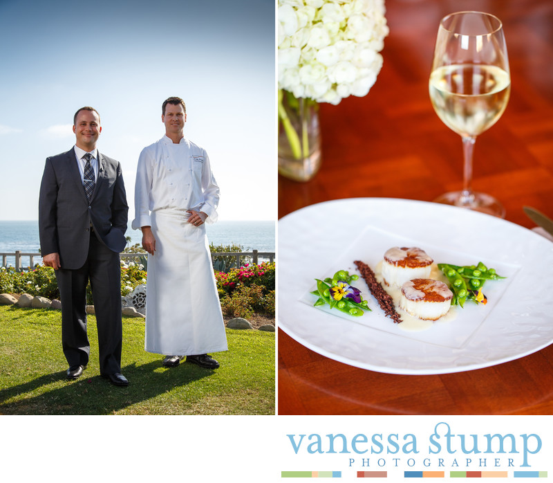 Sommelier Troy Smith and Craig Strong executive chef at Studio