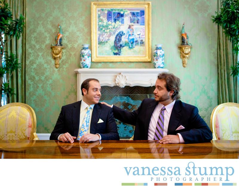 Portrait of entrepreneurs.Daren and Evan Metropoulos .
