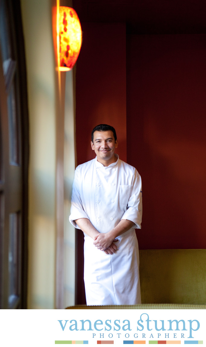 Portrait of Chef in chef whites.