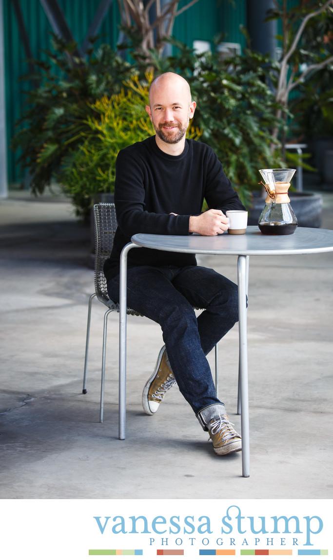 Portrait of Tony Konecny on Tonx Coffee
