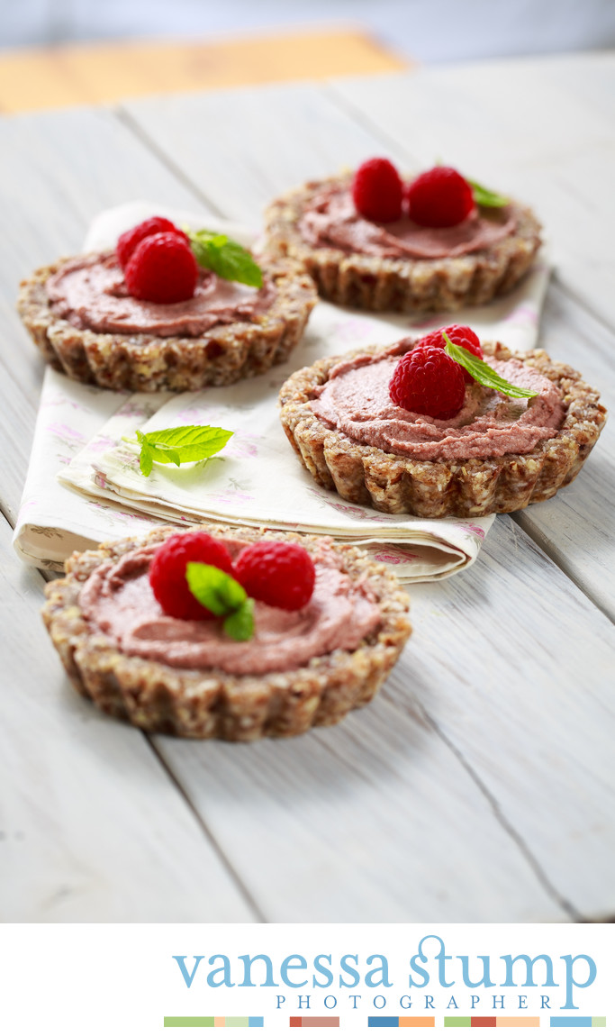 Mini Raspberry and Coconut Cream Tarts