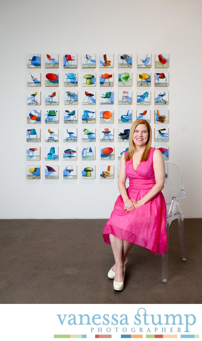 Portrait of painter Kelly Reemtsen