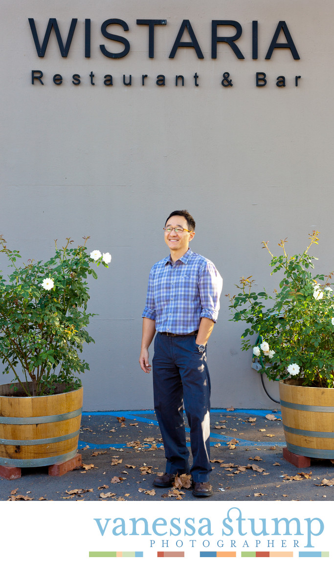 Portrait of Steve Ahn Wistaria restaurant and bar owner