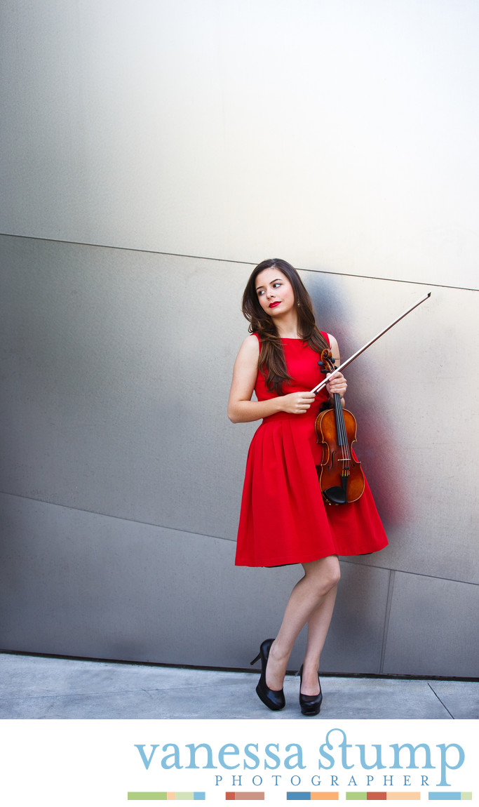 Portrait of Violinist Abby Khalek