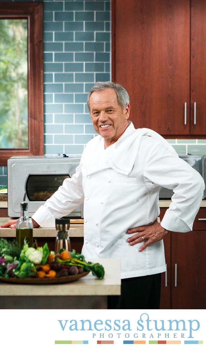 Portrait of Wolfgang Puck with The Wolfgang Puck Pressure Oven