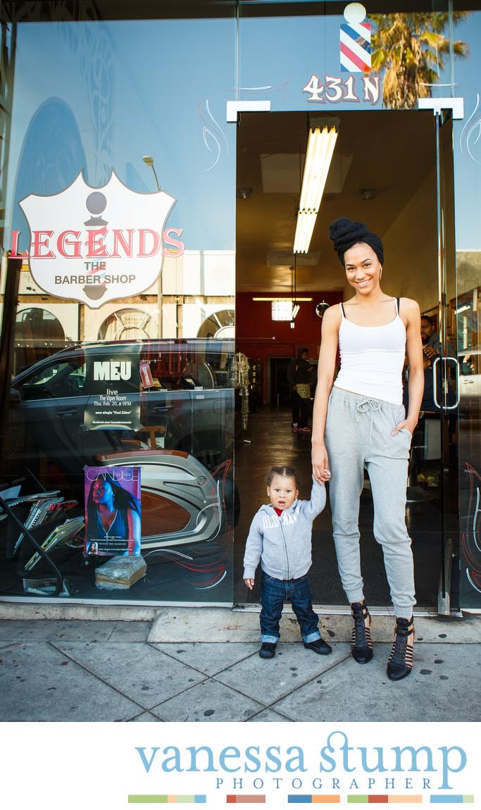 Street portrait at Legends on Fairfax Boulevard Los Angeles, CA