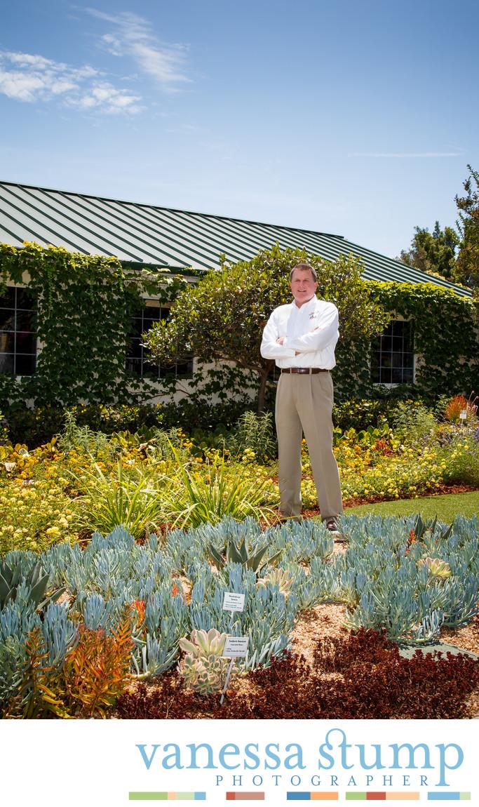 Portrait of Armstrong Garden Center owner Monte Enrigh