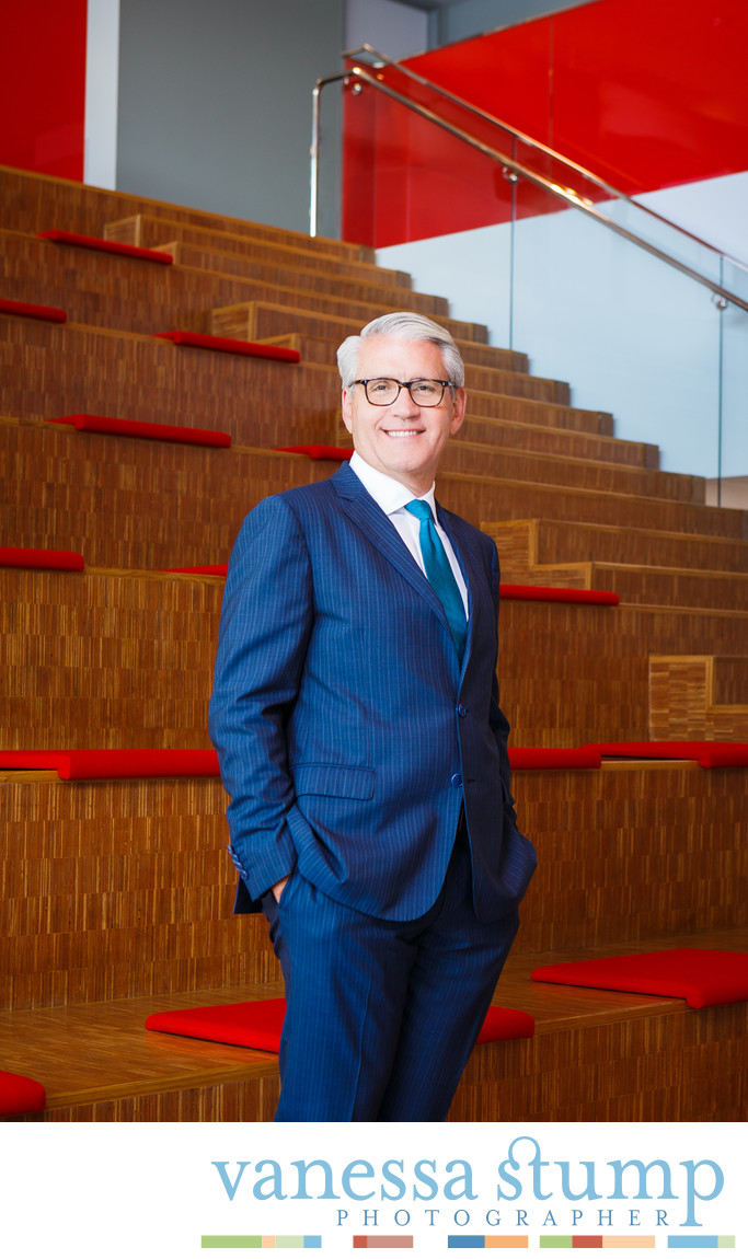 Environmental portrait of a Chief Executive Officer