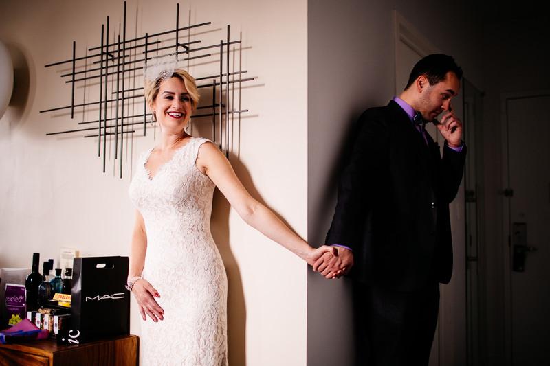 Before Seeing Each Other, Brooklyn New York Wedding