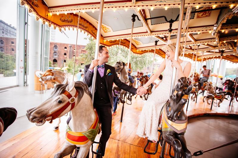 Jane's Carousel Brooklyn Bridge, New York Wedding