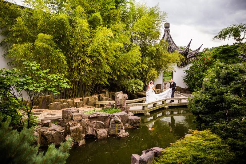 Snug Harbor in Staten Island, New York Wedding Chinese
