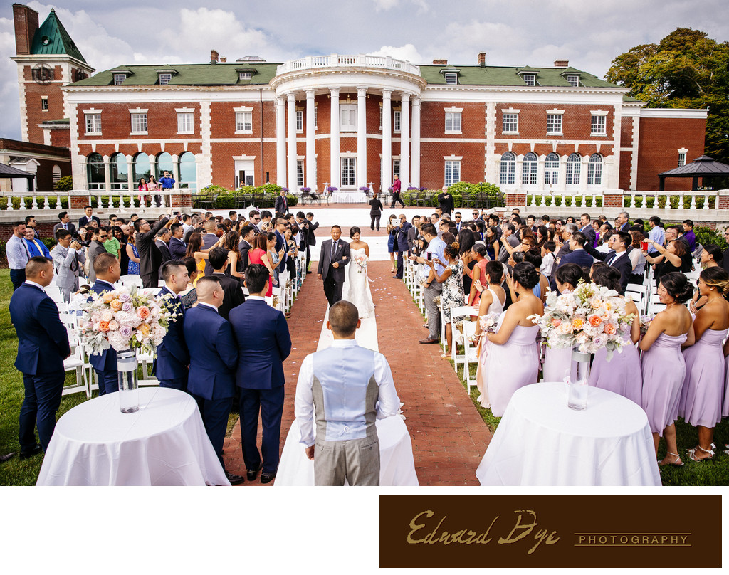 Bourne Mansion In Oakdale Long Island Wedding Ceremony Wedding Photography Edward Dye