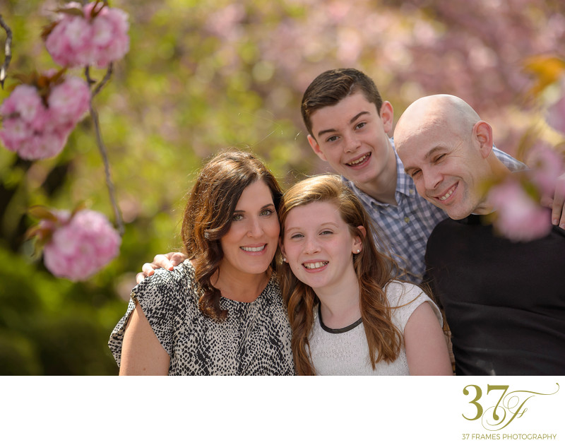Modern spring family photography Queensland