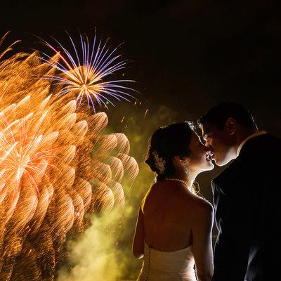 Fireworks Wedding Queensland