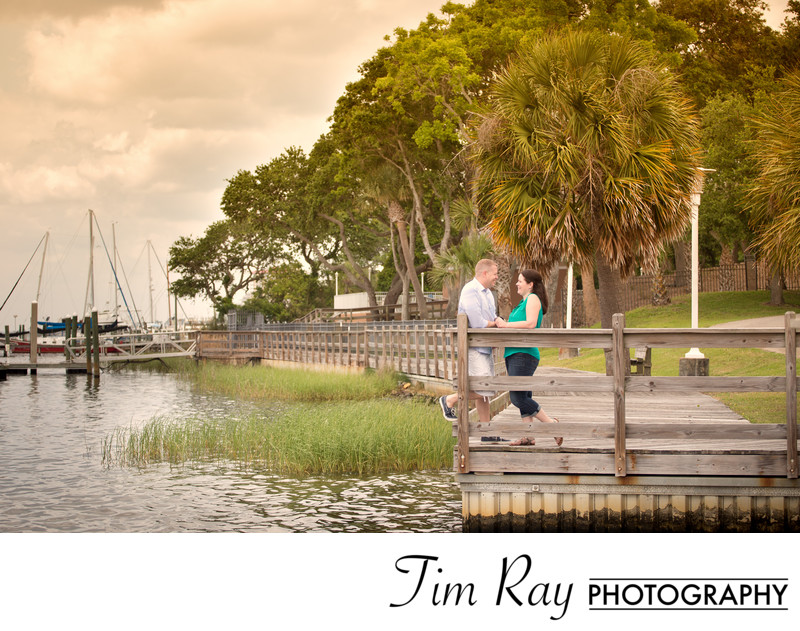 Fort Walton Beach, Florida engagement portrait