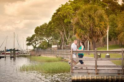 Fort Walton Beach, Florida engagement portrait