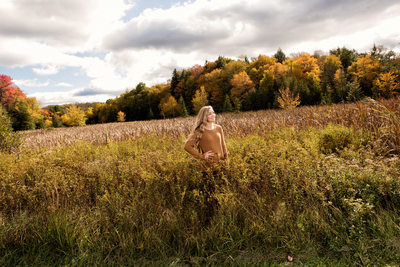 Fall Senior Portrait at Canaan Valley