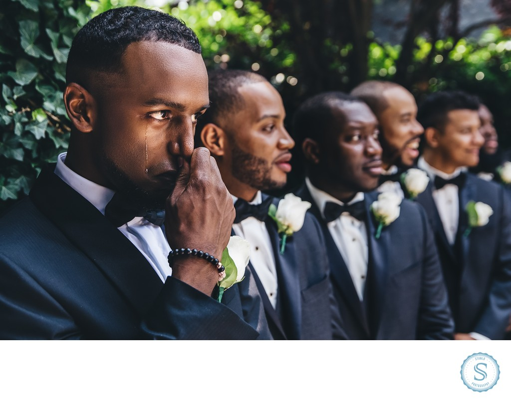 Groom Crying Wedding