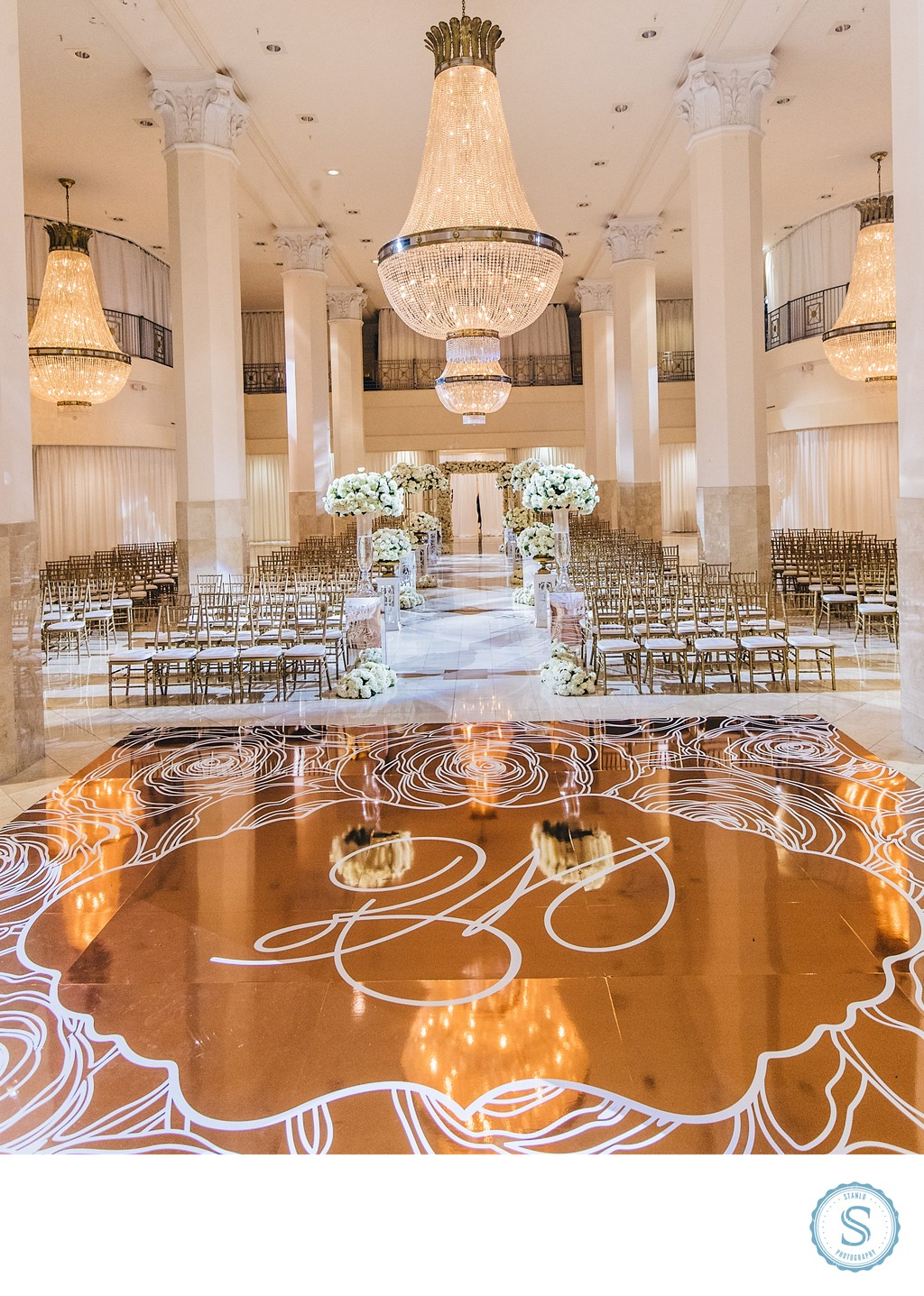 Southern Exchange Ballroom Wedding Ceremony
