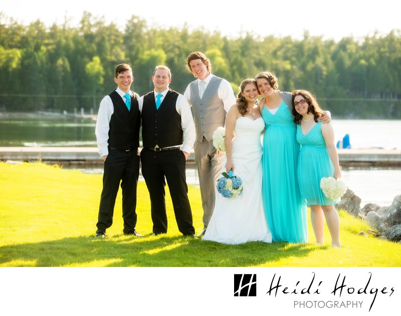 Hazy Summer Wedding Party