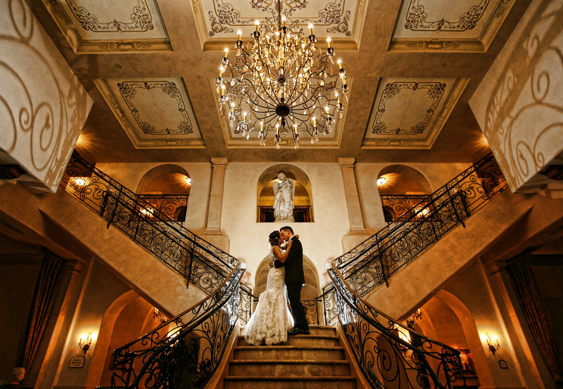 Ayres Hotel Wedding, Staircase