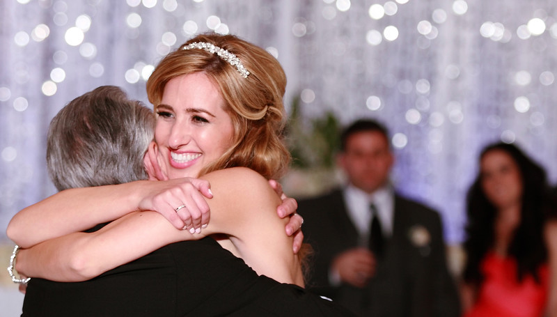 Wedding Photographer Los Angeles bride and father dnace