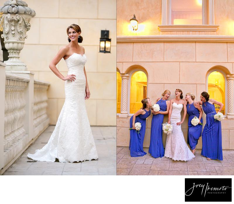 Ayres hotel wedding Manhattan bride and bridesmaid