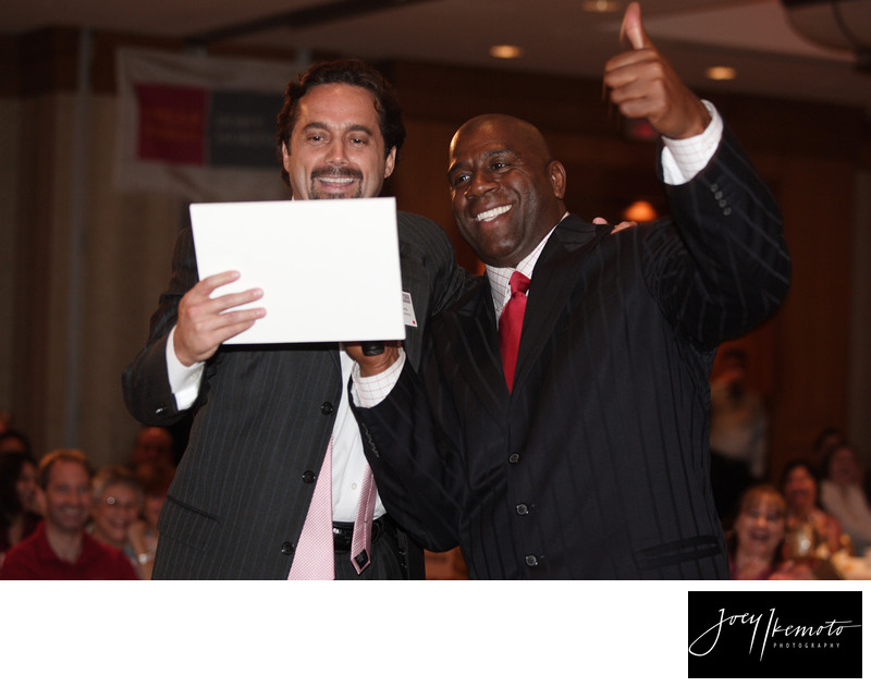 Magic Johnson At Wellsfargo Awards Meeting