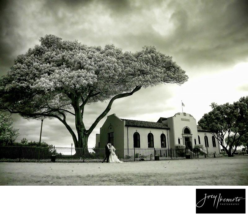 Redondo Beach Historical Library Wedding, Infared