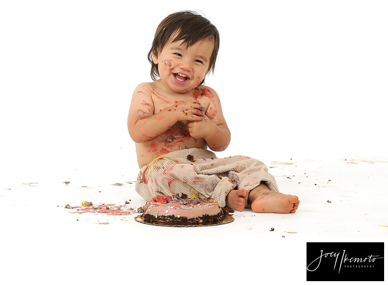 LA baby photography, 1st birthday cake smash