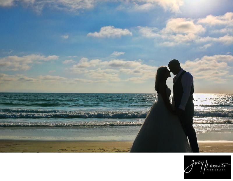 Chart House Wedding on the beach sunset