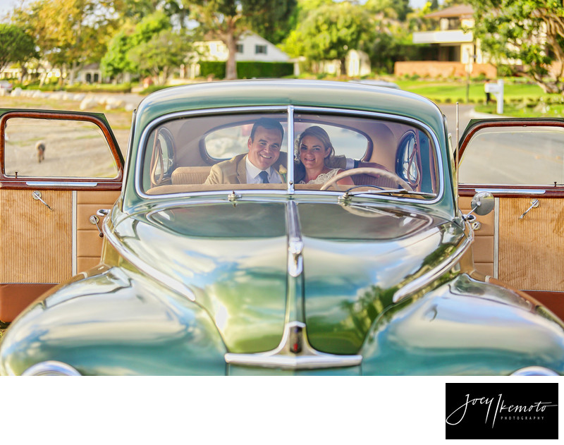 Wayfarers Chapel Wedding Car Photo