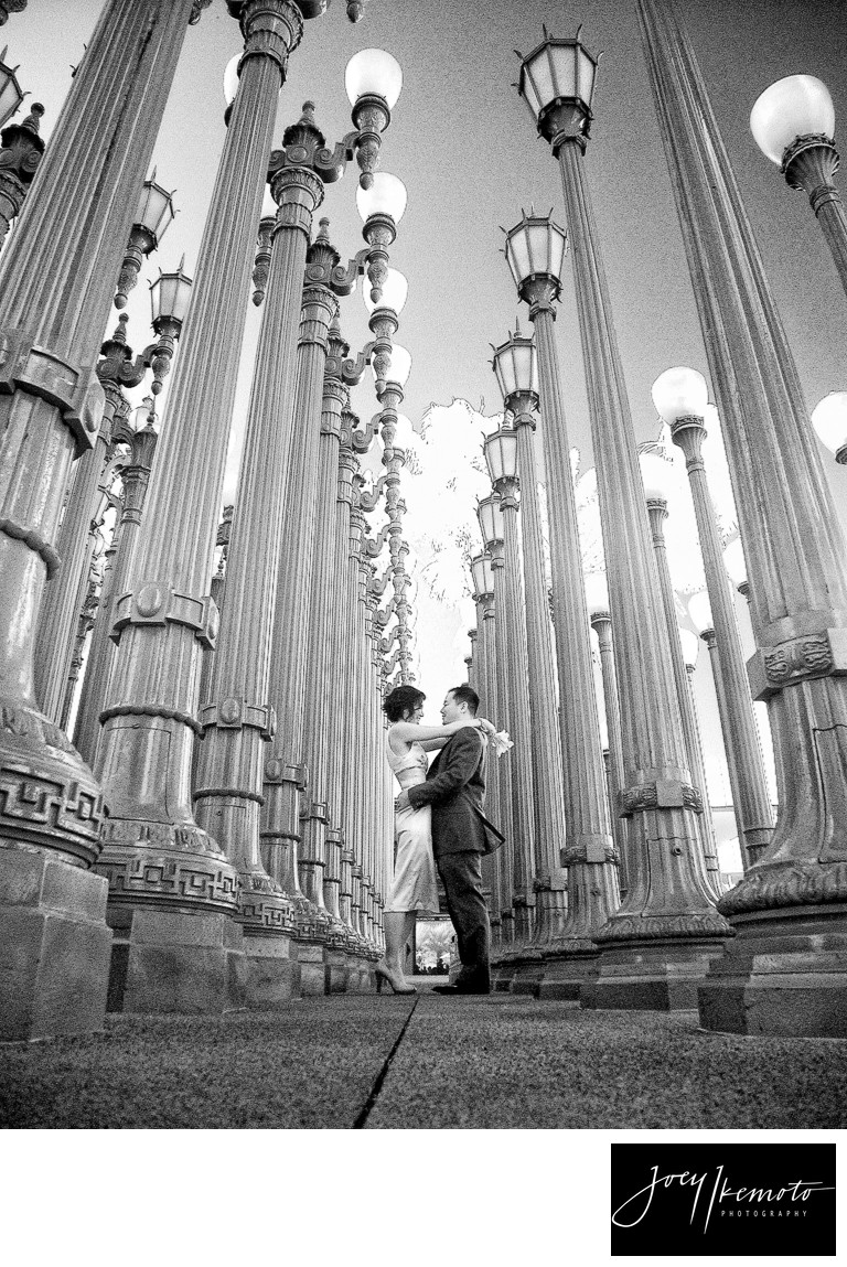 Lacma Urban Lights Wedding Photoraphy