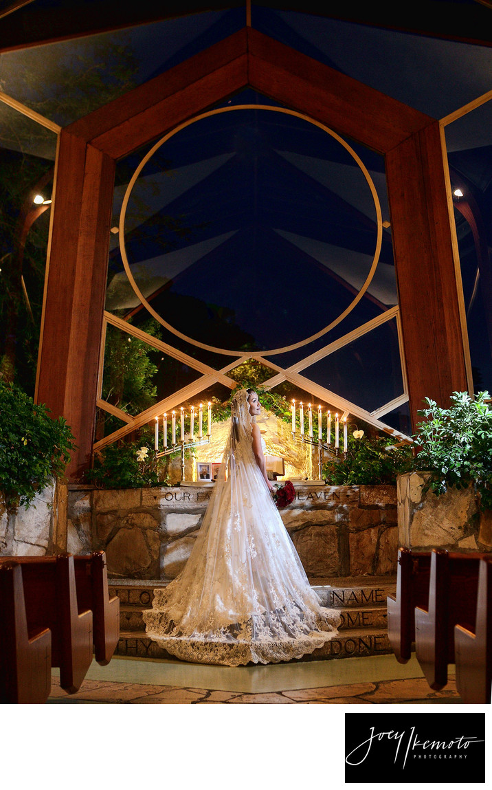 Wayfarers Chapel Bridal Wedding Photo