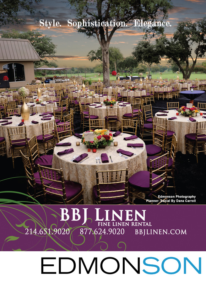 BBJ Linen Ad Of DAC Wedding Reception In DWeddings