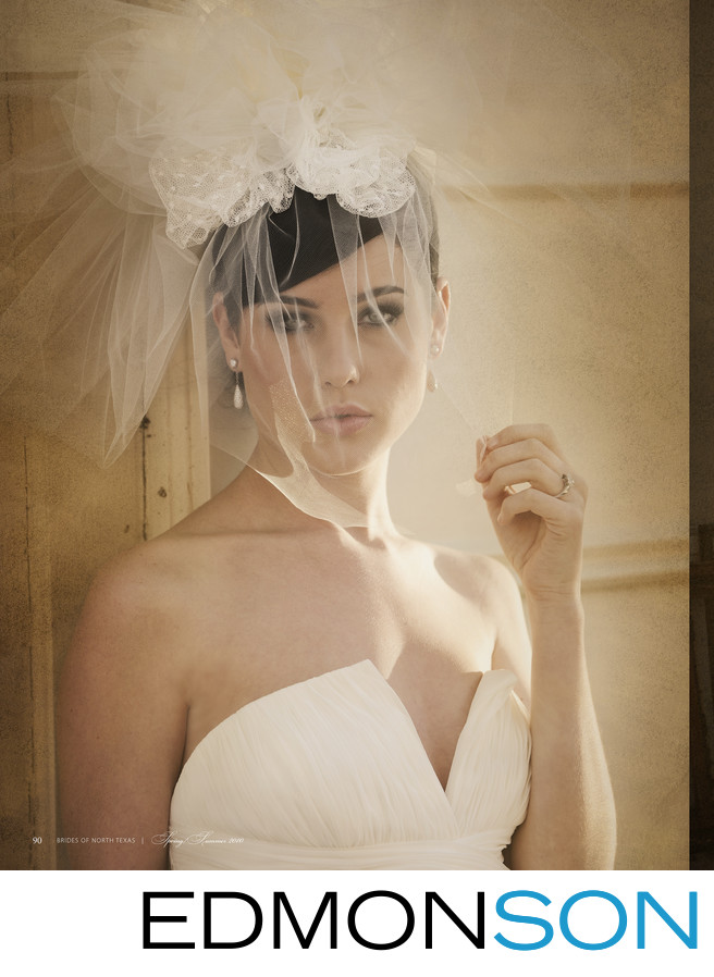 Vintage Wedding Magazine Veil Photo In McKinney, Texas
