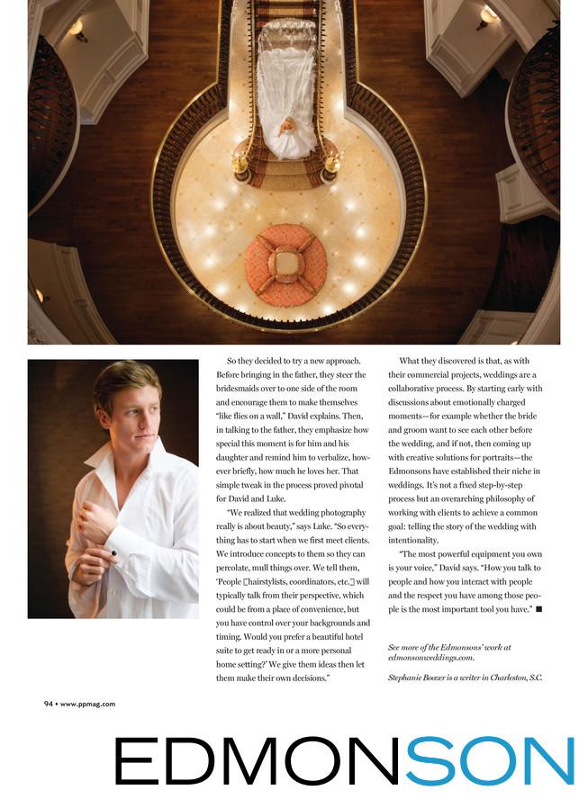 Edmonson Featured In Professional Photographer Magazine