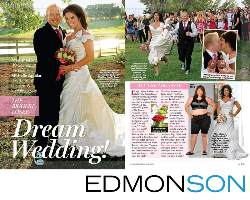 Us Weekly Biggest Loser Wedding Two Page Spread