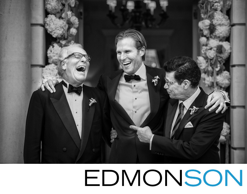 Father Of Groom Cracks Up Laughing Candid Moment
