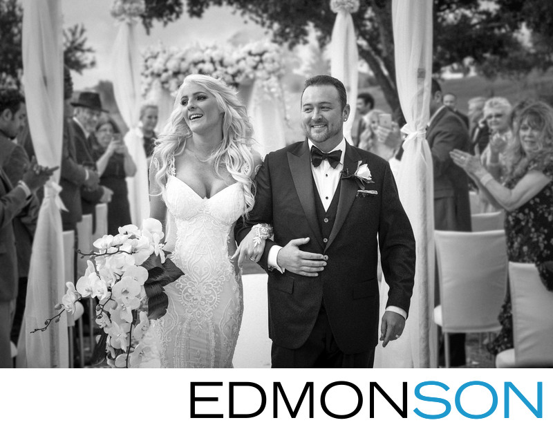 Four Seasons Dallas Outdoor Wedding Exit