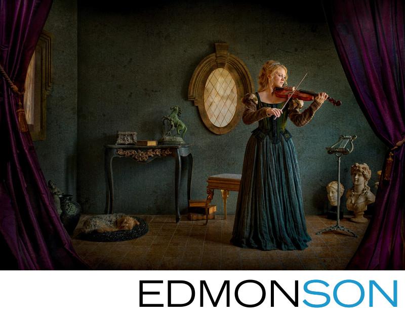 Vermeer Inspired Fine Art Photography - Woman Violin