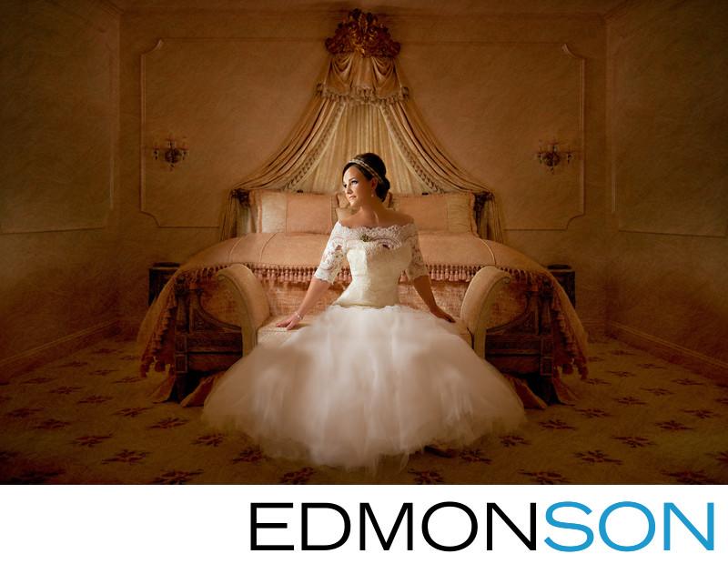 Prestonwood Bride Sitting On Lounge