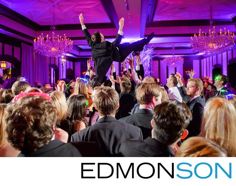 Groom Soars At Fun Dallas Country Club Reception